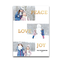 Peace, Joy, Love Foil